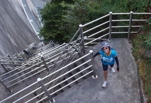 温井ダム481段のしわい階段