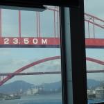 音戸大橋と、新しくできた橋。